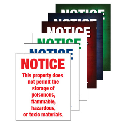 Notice Property Does Not Permit