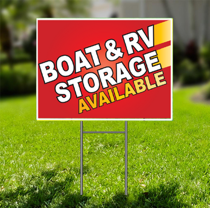 Boat and RV Storage Available  for Self Storage -  Dash In