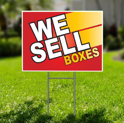 We Sell Boxes  for Self Storage Yard Sign -  Dash In
