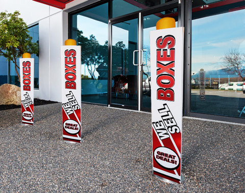 Custom Bollard Cover Signs