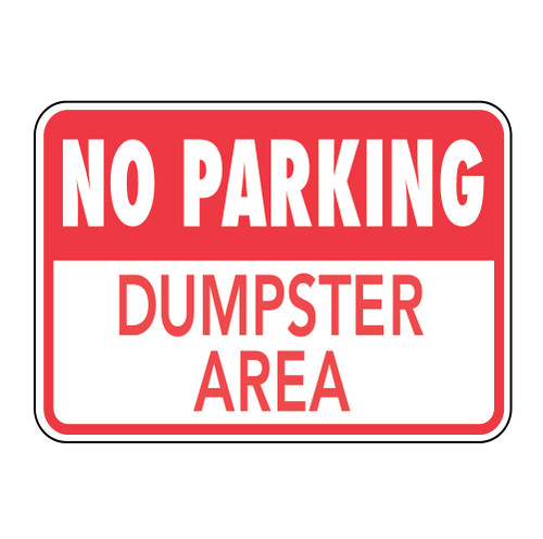 No Parking Dumpster Area