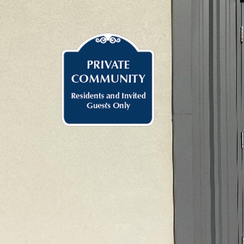 "Private Community Sign 18"" x 18"""