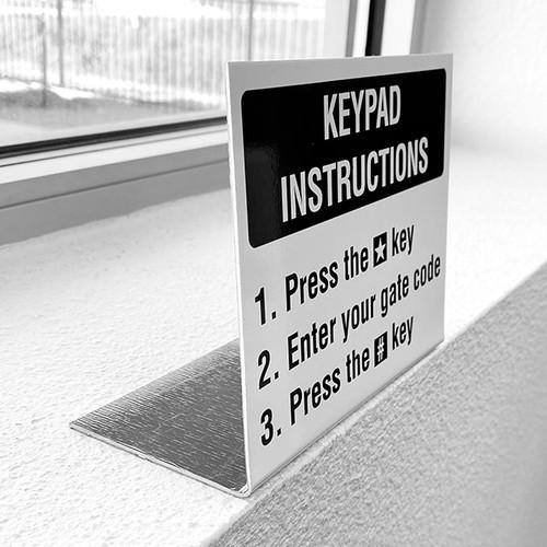 Gate Keypad Sign