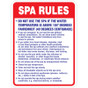 "Spa Rules Sign - 18"" x 24"""