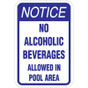 "No Alcoholic Beverages Sign - 12"" x 18"""