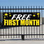 Free First Month Banner - Celebration