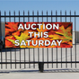 Auction This Saturday Banner - Fall