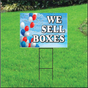 We Sell Boxes Self Storage Sign - Balloon Sky