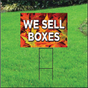 We Sell Boxes Self Storage Sign - Fall
