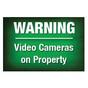 Warning Video Cameras Sign