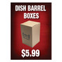 Dish Barrel Boxes Sign
