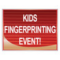 Kid's Fingerprinting Yard Signs
