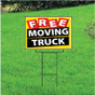 Free Moving Truck Sign - Festive