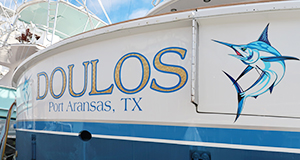 doulos-gold-leaf-boat-name-port-aransas-texas.jpg