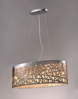 Seven lamp Oval Pendant light fixture.