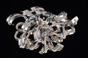 Spiral Chrome Finished Light Fixture