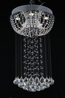 MAJESTIC  Flush Crystal Chandelier