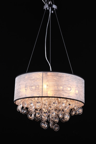 Elegant   organza shade chandelier