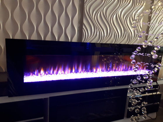 Crystal Fireplace 72'' Built-IN