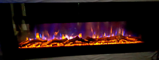 60'' BUILT- IN  ELECTRIC FIREPLACE