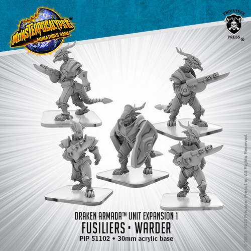 MONPOC Draken Armada: Fusiliers, Elite Fusilier Warder (Unit)