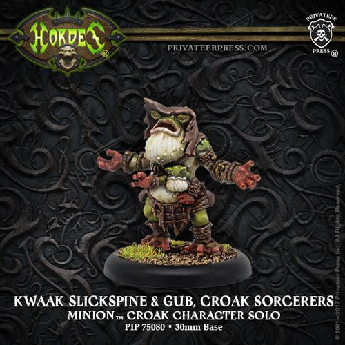 Kwaak Slickspine & Gub, Croak Sorcerers – Minion Croak Character Solo (metal)