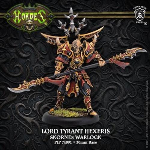 Lord Tyrant Hexeris – Skorne Warlock (resculpt) (metal)