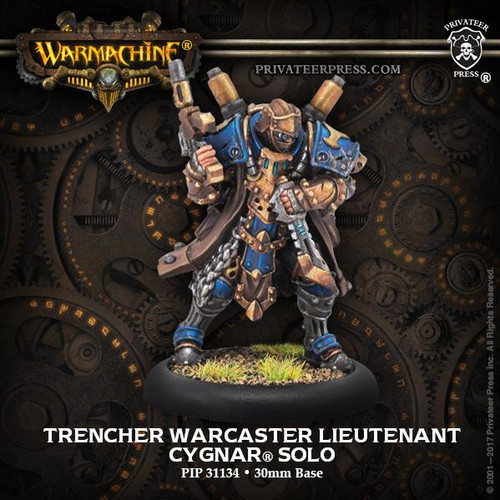 Trencher Warcaster Lieutenant – Cygnar Solo (resin/metal)