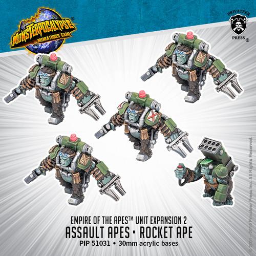 MONPOC Empire of the Apes: Assault Apes & Rocket Ape (Units)