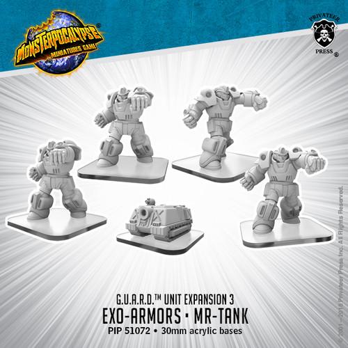 MONPOC G.U.A.R.D.: Exo-Armors & MR-Tank (Units)