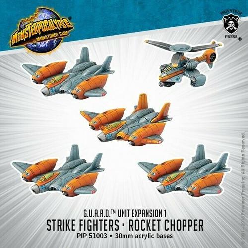 MONPOC G.U.A.R.D.: Strike Fighters & Rocket Chopper (Unit)