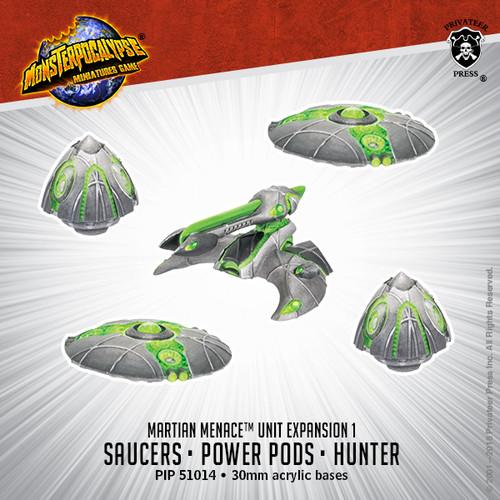 MONPOC Martian Menace: Saucers, Power Pods & Hunter (Units )