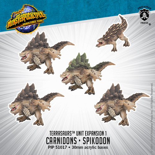 MONPOC Terrasaur: Carnidon & Spikodon (Units)