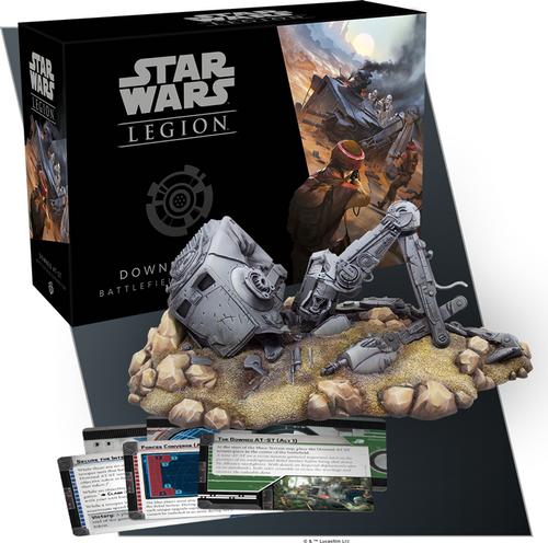 Star Wars Legion: Downed AT-ST Battlefield