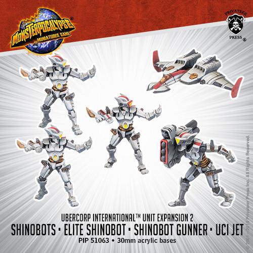 MONPOC UberCorp International: Shinobots, Shinobot Gunner, and UCI Jet (Unit)