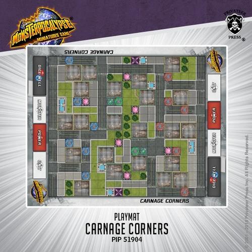Monsterpocalypse Fabric Playmat: Carnage Corners (Neoprene)