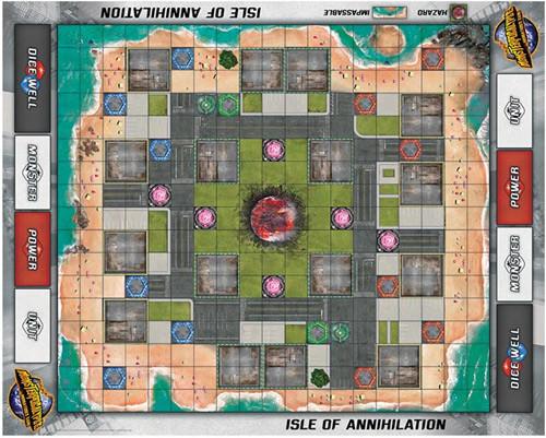 Monsterpocalypse Fabric Playmat: Isle of Annihilation (Neoprene)