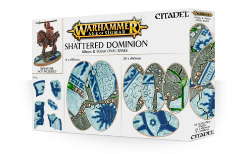 AGE OF SIGMAR SHATTERED DOMINION 60 & 90MM OVAL