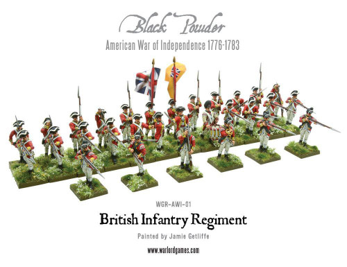 American War of Independence British Infantry Regiment