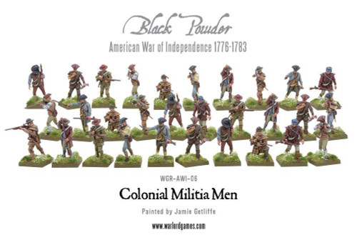 American War of Independence Colonial Militia Men