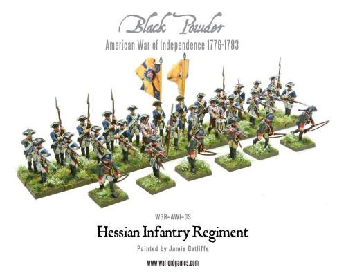 American War of Independence Hessian regiment