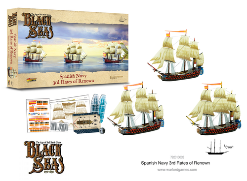 Black Seas Spanish Navy 3rd Rates of Renown