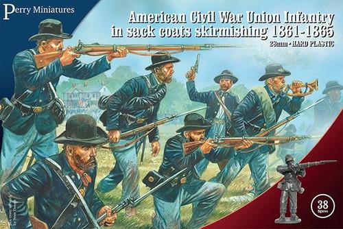 American Civil War Union Infantry in sack coats Skirmishing
