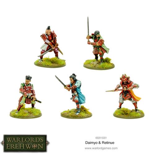 Warlords of Erehwon: Daimyo & retinue