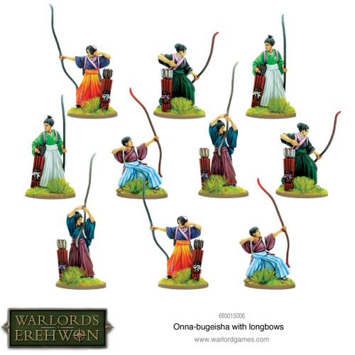 Warlords of Erehwon: Onna-bugeisha with Longbows