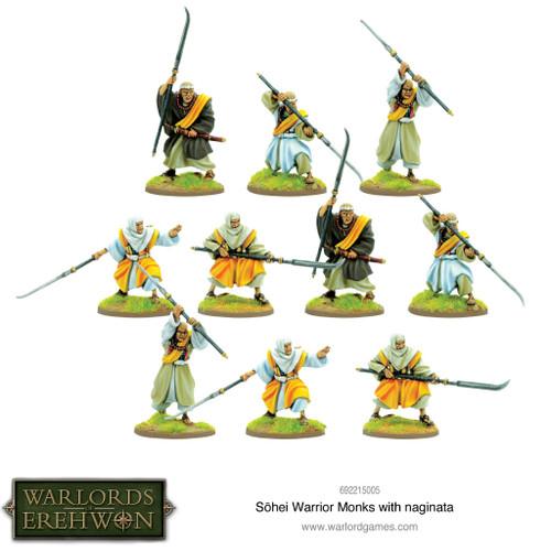 Warlords of Erehwon: Sohei Warrior Monks with Naginata