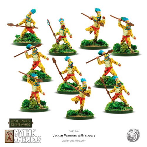 Mythic Americas: Jaguar Warriors with spears