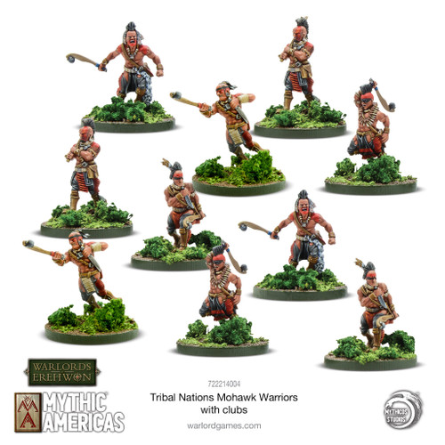 Mythic Americas: Mohawk Warriors with Clubs
