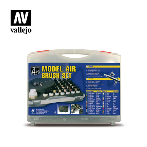 Acrylicos Vallejo Suitcase Model Air Camouflage Paints.