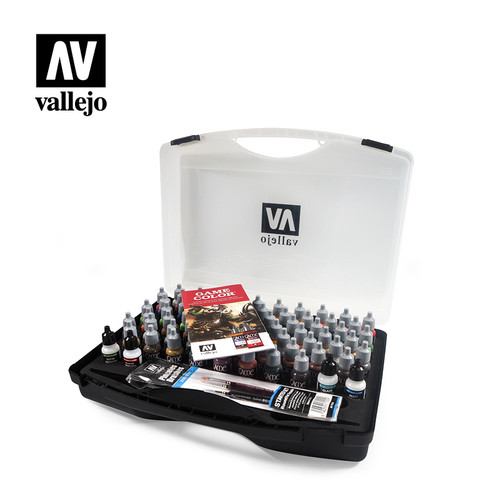 Acrylicos Vallejo Game Color Box Set (72 colours + 3 brushes + carry case)